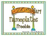 Zoo-Fari Nameplates / Wordstrips