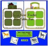 Zoo / Farm Animal Sort Center Game for Preschool and Kindergarten