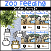 Zoo Feeding Counting Sensory Bin