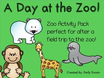 Zoo Field Trip Activity Pack FREEBIE