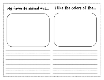 Zoo Field Trip Booklet (English)