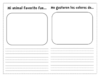 Zoo Field Trip Booklet (Spanish)