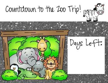 Zoo Field Trip Countdown