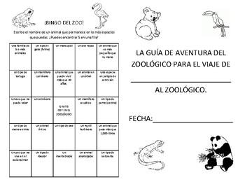 Zoo Field Trip Guide Spanish