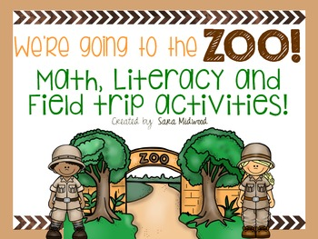 Zoo Field Trip Math, Literacy and Field Trip Activities