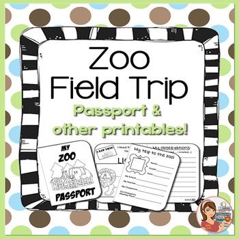 Zoo Field Trip Passport & Printables