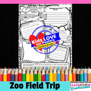 zoo field trip poster activity by elementary lesson plans tpt. Black Bedroom Furniture Sets. Home Design Ideas