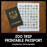 Zoo Field Trip Printable Passport