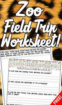 Zoo Field Trip Questions Worksheet (Free!)