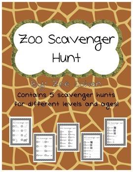 Zoo Field Trip Scavenger Hunt