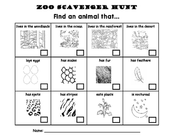 photograph relating to Zoo Scavenger Hunt Printable identified as Zoo Market Holiday vacation Scavenger Hunt