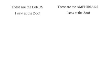 Zoo Fieldtrip Journal