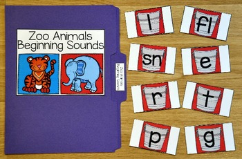 Zoo File Folder Games