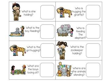 Zoo File Folder Language Tasks