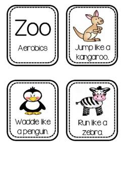 Zoo Freebie #2 ~ Zoo Aerobics