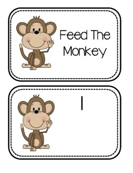 Zoo Freebie #3 ~ Feed The Monkey
