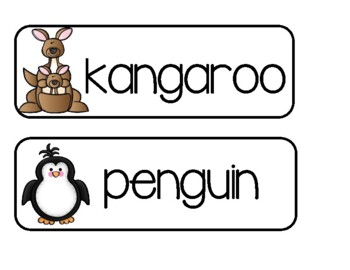 Zoo Freebie #5 - Picture Word Cards