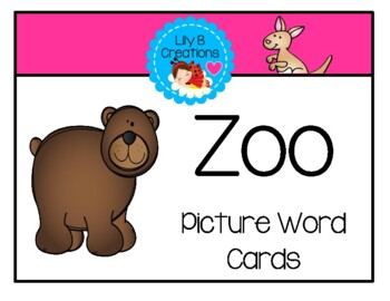 Zoo Freebie #5 ~ Picture Word Cards