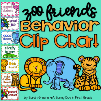 Zoo Friends Behavior Clip Chart!