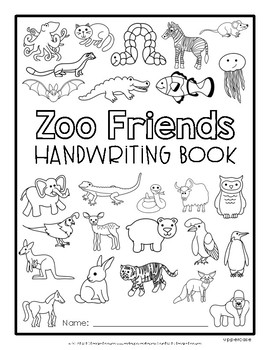 Zoo Friends Handwriting {Uppercase}