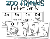 Zoo Friends Wall Cards {ABC Order}