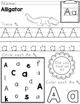 Zoo Friends Letter Work: Handwriting, Morning Work, Letter Practice