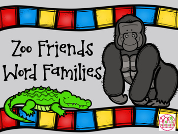 Zoo Friends Word Families