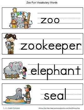 Zoo Fun Alphabet Cards and Writing Book