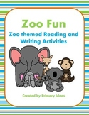 Zoo Fun:  Zoo Themed Reading and Writing Activities