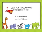 Zoo Fun for Everyone~Ten Frames Working with Numbers 0-10
