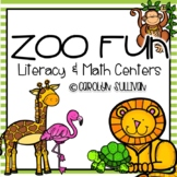 Zoo Fun for Kindergarten - Common Core Standards Included