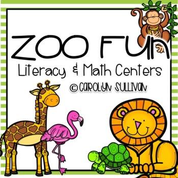 Zoo Fun for Kindergarten - Common Core Standards Included
