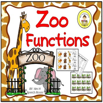 Zoo Speech Therapy Functions