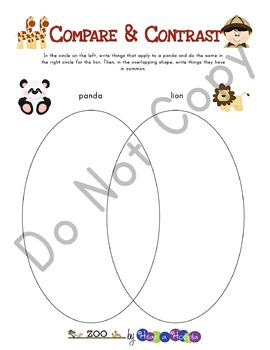 Zoo Games and Activities for Fourth, Fifth and Sixth grades