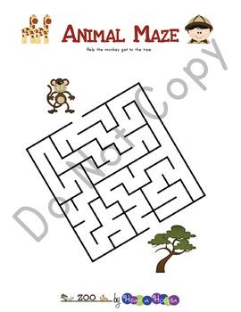 Zoo Games and Activities for Preschool & Kindergarten