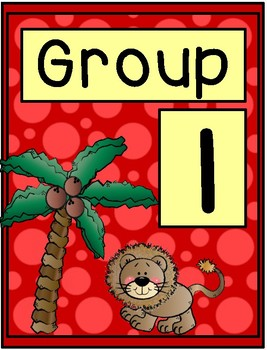 Zoo Group Signs - Table Group Signs