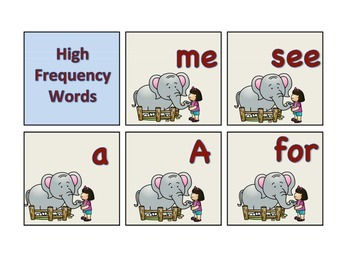 Zoo High Frequency Words