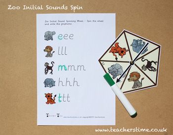 Zoo Initial Sounds Spin