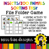 Folder Game: Zoo and Insect Sorting for Early Childhood Special Education