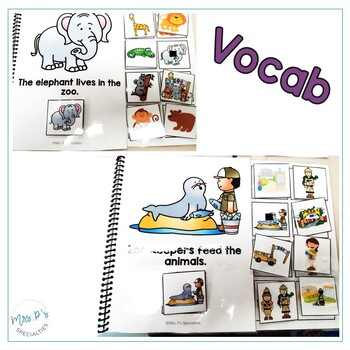 Zoo Interactive Books (Adapted Books For Special Education & Autism Classrooms)