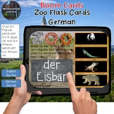 Zoo Interactive Flash Cards Boom Card Sets German & English