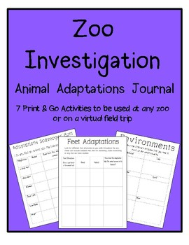 Zoo Investigation Animal Adaptations