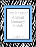 Zoo Keeper Animal Memory Match - Add ten to a two digit number