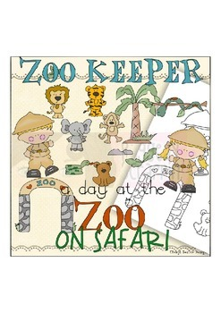 Zoo Keeper Clipart Collection~Zoo Animals