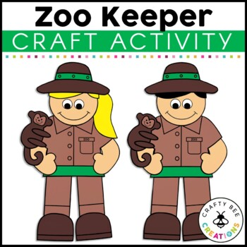 Zoo Keeper Cut and Paste