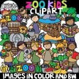 Zoo Kids Clipart {Zoo Clipart}