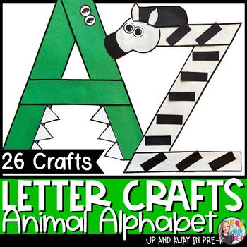 Zoo Letter Crafts A Z Bundle By Megan Morris Tpt