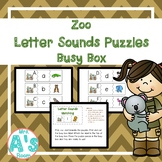 Zoo Letter Sounds Puzzles Busy Box