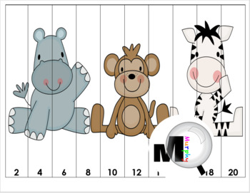Zoo Math Number Puzzles