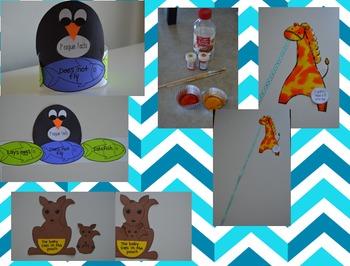 Zoo Literacy Centers for Kindergarten Bundle